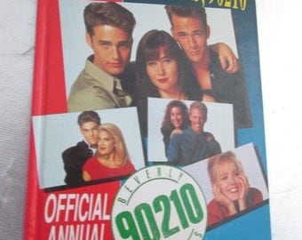 Vintage 1993 BEVERLY HILLS 90210 Official Annual Hardcover