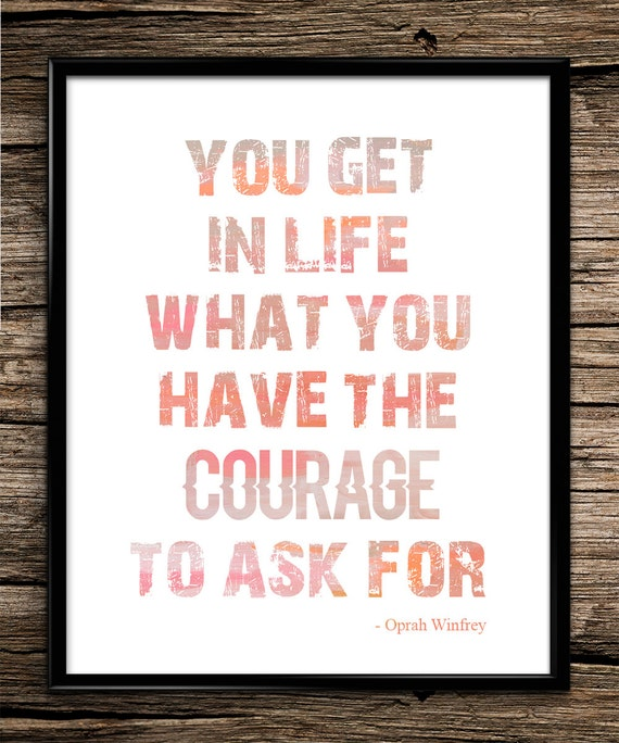 Oprah Winfrey New Year Quotes: Oprah Winfrey Quote Inspirational Quote By UniquelyGiftedArt
