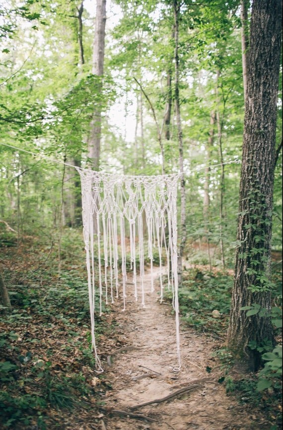 Backdrop/ Macrame curtain/ Boho wedding decor/Rustic Wedding/Macrame ...