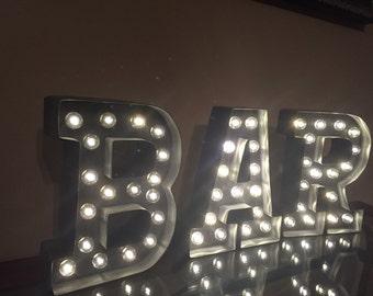 Lighted BAR sign