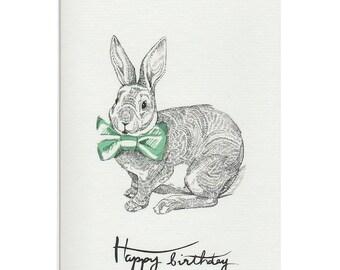 Bow Bunny Card