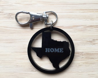 Texas My home luggage tag, custom bag tag, state luggage tag, state bag tag, travel accessories, state keychain