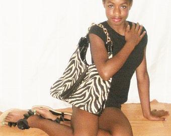 Zebra Stripe Handbags, Animal Print Handbags, J'NING Handbags, J'NING Accessories