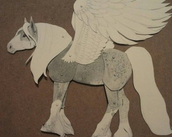 Paper Horse Doll/Puppet