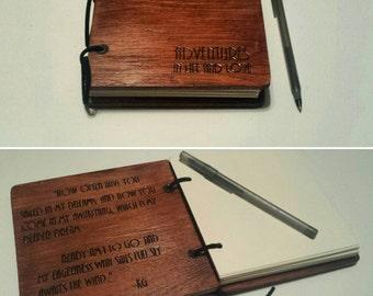 Custom 6x6 Hand Engraved Wood Album/ Guest Book/ Journal