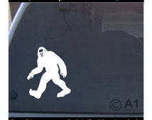 Bigfoot, sasquatch, yeti, car wall decal sticker, Free shipping in USA, high quality, many colors and sizes,4 laptop vehicle tablet more 8a