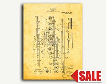 Patent Art - Flute Patent Wall Art Print