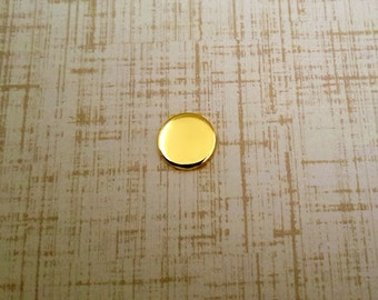 Nu Gold 3/8 inch Round Stamping Blanks - Nu Gold Blanks
