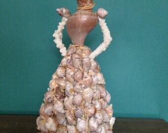 Elegant Victorian Seashell Doll