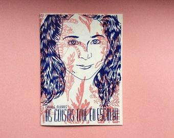 Risograph art zine As Coisas Que Eu Escolhi by Estelle Flores