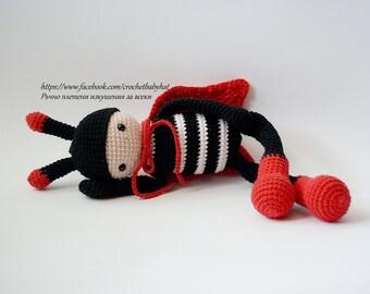 LadyBug,  Soft ladybug,Doll for baby, Amigurumi, Soft animal for gift, Animal doll, Ladybug doll, Handmade doll, Crochet animal toys,