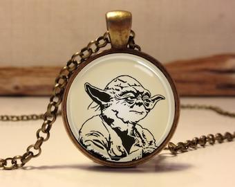Star Wars Necklace. Star wars jewelry. Yoda necklace. star wars pendant. Yoda pendant (star wars #3)