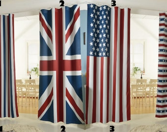 Good Patriotic Curtain Panel, Wall Hanging, Backdrop. Light Blocking Curtain  Flag Of USA Or