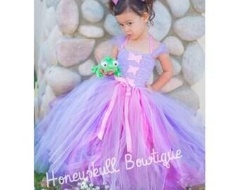 Princess Rapunzel/ Tangled Tutu Dress/ Costume in Pinks and Purples
