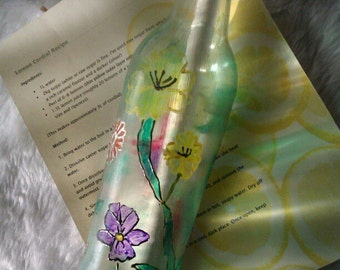 Floral Decorated Bottle