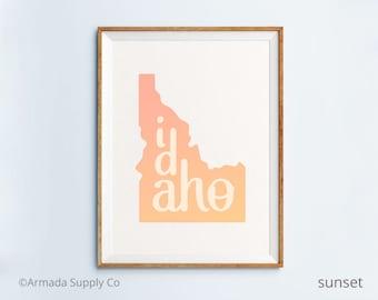 Idaho print - Idaho art - Idaho poster - Idaho wall art
