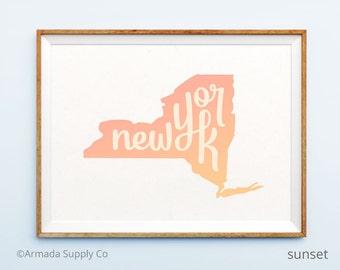 New York print - New York art - New York poster - New York wall art