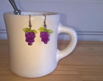 Vintage Grape Cluster Earrings