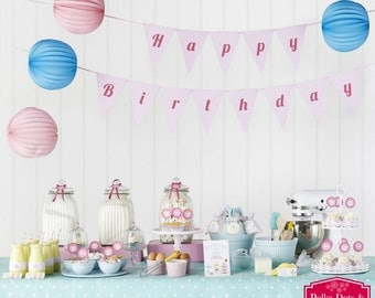 BELOW COST Celebrate 'n' Bake / Cut & Make Party Kit / Party Decorations / Styling Kit / Cupcake Baking Party / Retro Kids Party Supplies