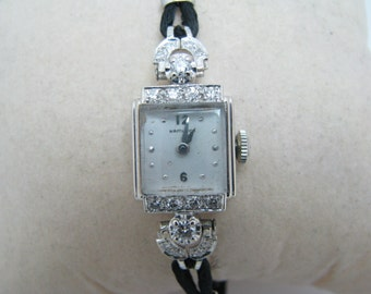 Gorgeous Ladie's Diamond and 14k White Gold Hamilton Watch