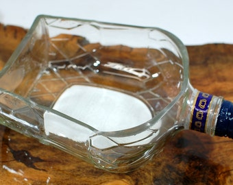 Crown Royal Canadian Whiskey Bowl or Dish - Handcrafted from Recycled Liquor Bottle