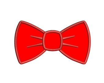 Bow Tie Applique Machine Embroidery Digitized Design Pattern  - Instant Download - 4x4 , 5x7, and 6x10 -hoops