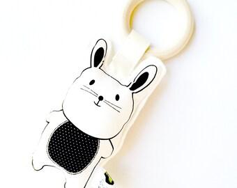 Bunny Rabbit Organic Teething Toy Rattle