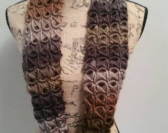 Brown Broomstick Lace Infinity Scarf