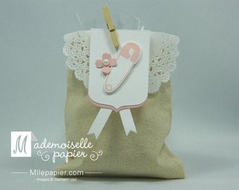 20 Party favors - Muslin Bags - Baby