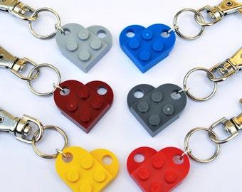 LEGO ® Love Heart Keyring - 7 Funky Colours