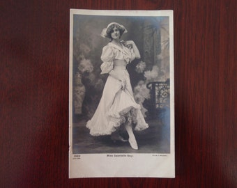 Antique Postcard Early 1900's Miss Gabrielle Ray English Stage Actress Ewardian Beauty Collectible Paper Ephemera a1940