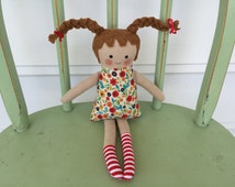 Early Childhood Storybook Character Pippi Longstocking Handmade Doll