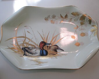 Antique Wilhelm  & Graef French Porcelain Duck Platter/Tray