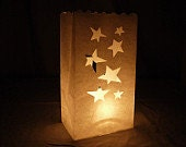 luminary bag,white luminary bag,tealight bag,star bag,lantern bag,candle bag,flame retardant bag,eid decoration,holiday lights