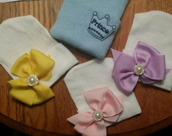 Quadruplets! 4Baby Hospital Hats. Newborn Hats for Photos, Hospital Stay & More.