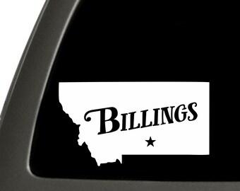 Billings Montana Sticker For Car Window, Bumper, Or Laptop