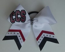 Custom School Cheerleading Hairbows in your custom colors