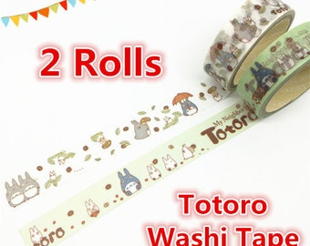 Washi Tape (2 rolls), Totoro Washi Tape, Kawaii Washi Tape, Cute Washi Tape, my_neighbor_totoro