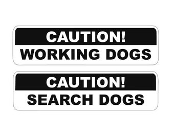 Caution! Working/Search Dog Window Decal
