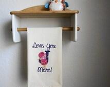 Sunbonnet Sue Monogram *Made to Order* Tea Towel