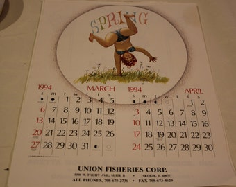 Hilda Duane Breyers Calendar Page March/ April 1994