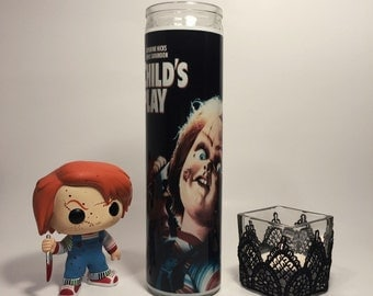 Child's Play Chucky Horror Prayer Candle