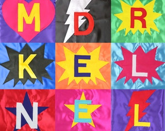 Cape Party Pack - Kids Bulk Capes - Bulk Capes with Initials - 30 Superhero Capes - Personalized Capes - Superhero Cape Favors - Cape Favors