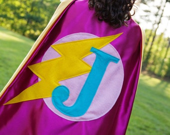 Superhero Cape for Birthday Parties - Superhero Halloween - Holiday Gifts . Personalized Capes for Girls . Free Mask