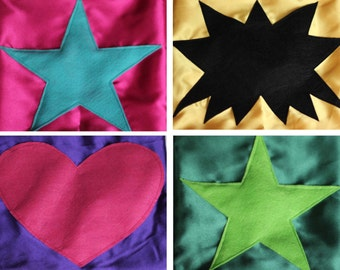 SUPER HERO PARTY Pack - 10 Superhero Capes - Superhero Favors - Bulk Super Hero Capes - 10 Capes with Shapes - Cape Favors - Quick Shipping