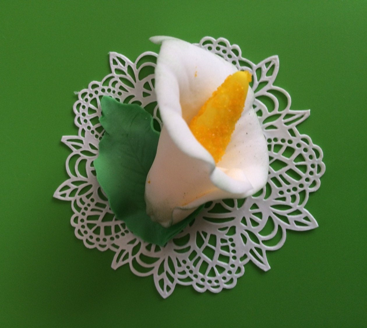 fondant flowers 36pcs cake lace and Calla lily edible flowers