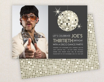 INSTANT DOWNLOAD: Birthday invitation Template - Disco Dance Party