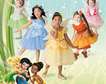 Simplicity Sewing Pattern 1792/0204 Disney Fairies Costumes for Toddlers & Children