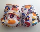 Newborn/Prem Fitted Cloth Nappy twin pack