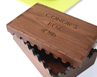 Solid Wood Keepsake Box - Box of Bits - Accessories Box - Memories Box - Christening Gift - Interlocking Wooden Box - Solid Wood stash box